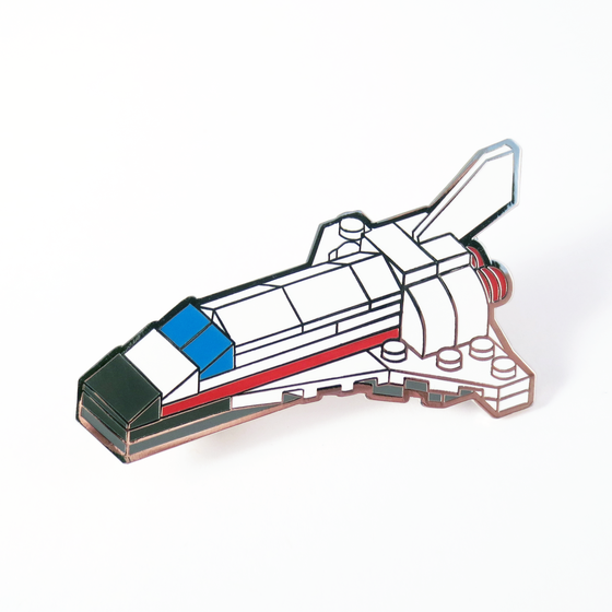 Image of Brick Space Shuttle Pin