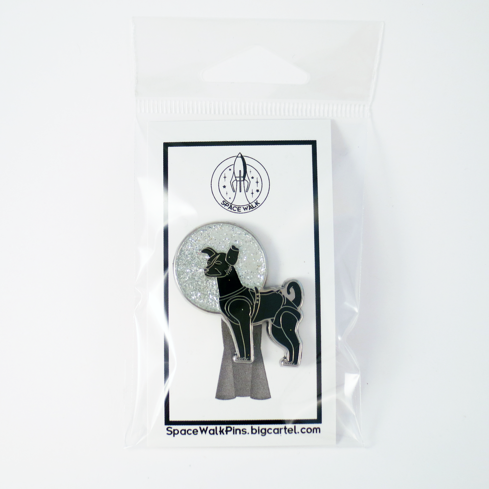 Image of Laika the Space Dog Pin