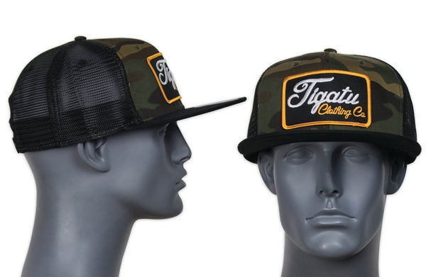 "Image of ""Golden Hour"" Camo Flatbill SnapBack"