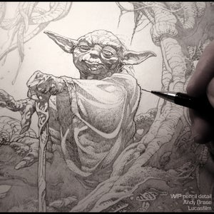 Image of Yoda: Star Wars Print- Artist Proof LIMITED (signed) + 30% off code