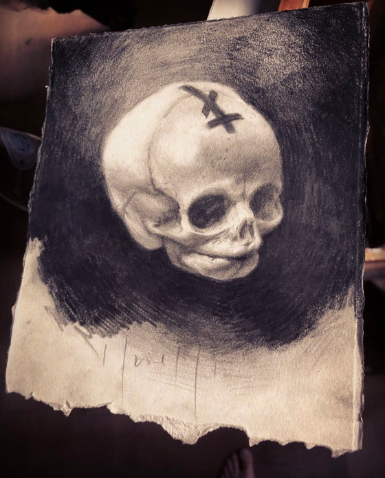 Image of 'AELIUS' { Foetal Skull } - Original Artwork