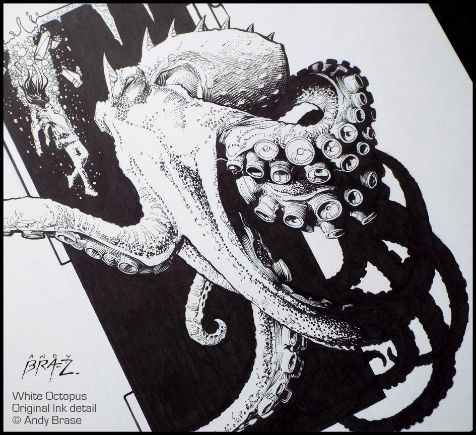 Image of White Octopus- 13x19 LIMITED Print (signed)