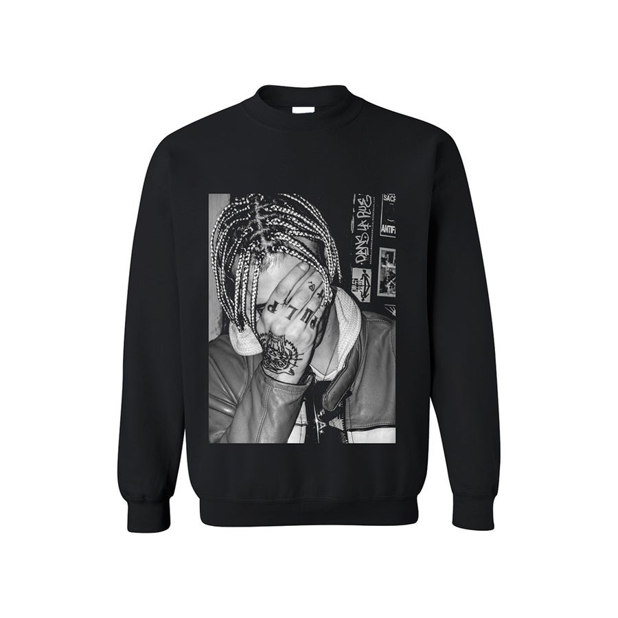 Image of SWEATSHIRT ACHILLE LAURO / BLACK / UNISEX