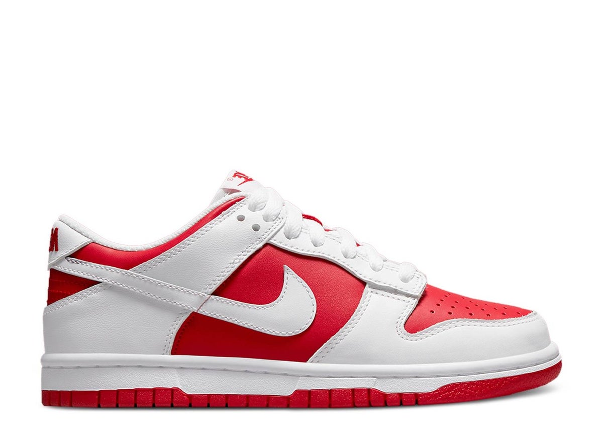 Image of DUNK LOW 'WHITE UNIVERSITY RED'