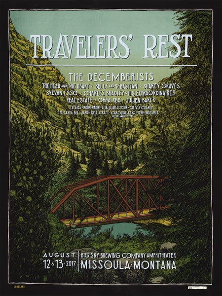 "Image of Travelers' Rest • Limited Edition Official Poster (18"" x 24"")"
