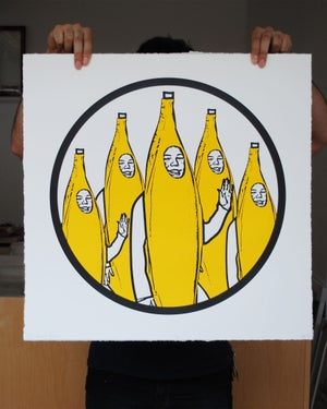 Image of Gang Screen Print Yellow