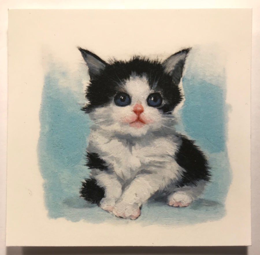 "Image of ""Tiny Blue"" miniature print"