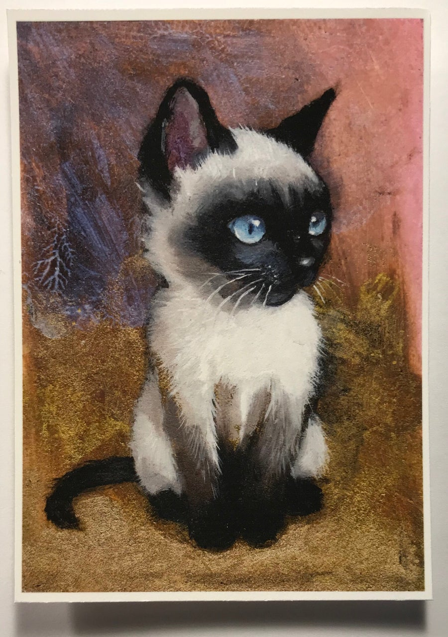"Image of ""Mimi"" miniature print"
