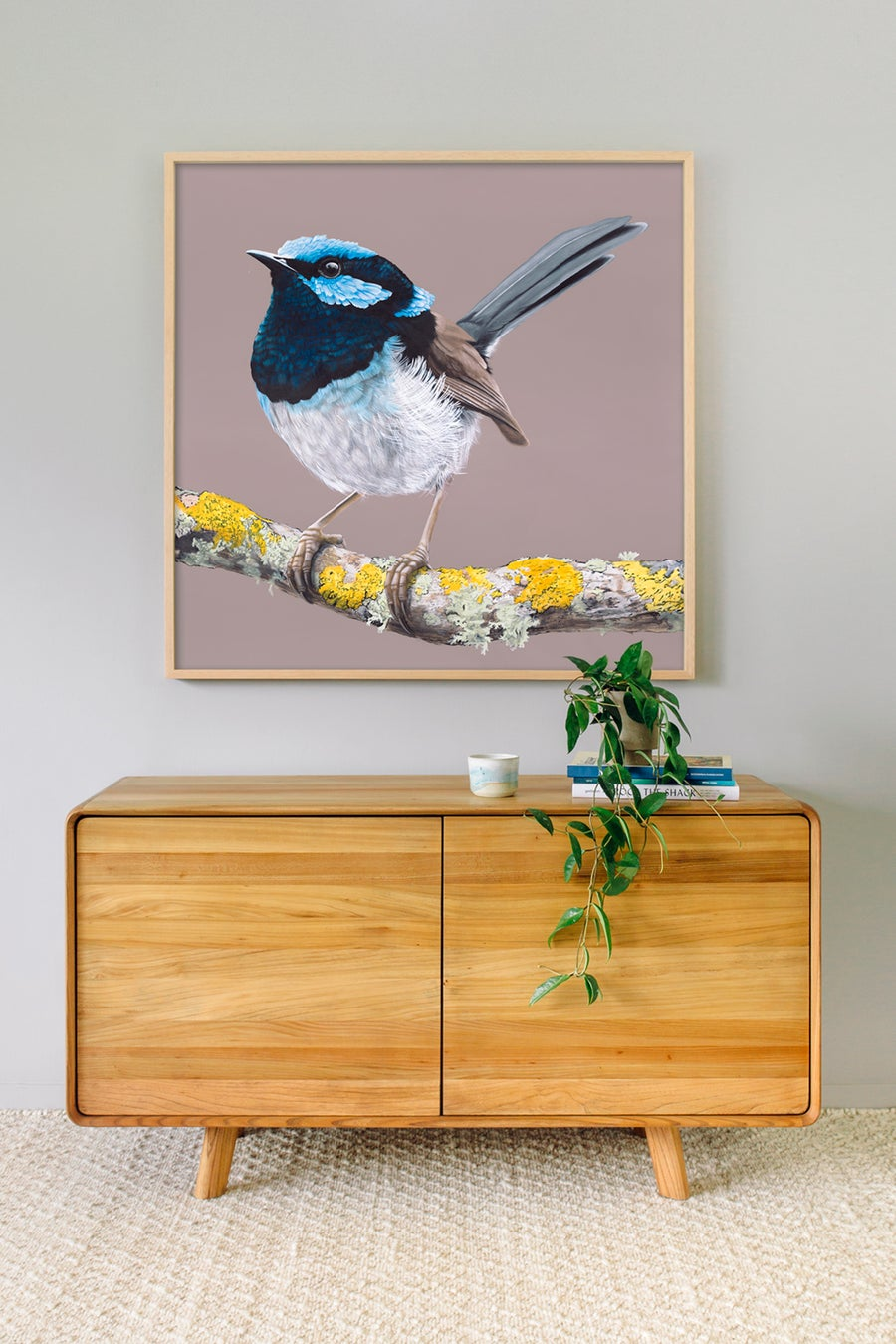 Image of Blue Wren Print
