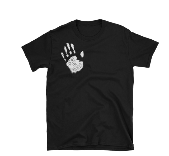 Image of White and Black Handprint T