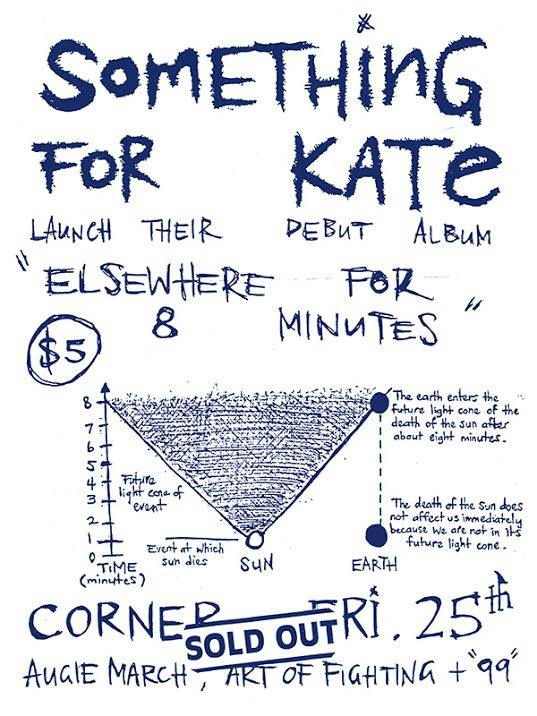 Image of Something for Kate 1997 show flyer tea towel (LIMITED EDITION!)