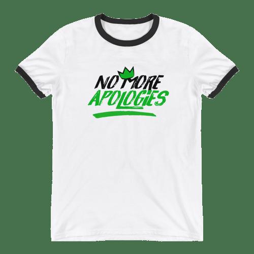 "Image of No More Apologies ""New Logo"" Unisex Crew Neck (Black Trim) Shirt"
