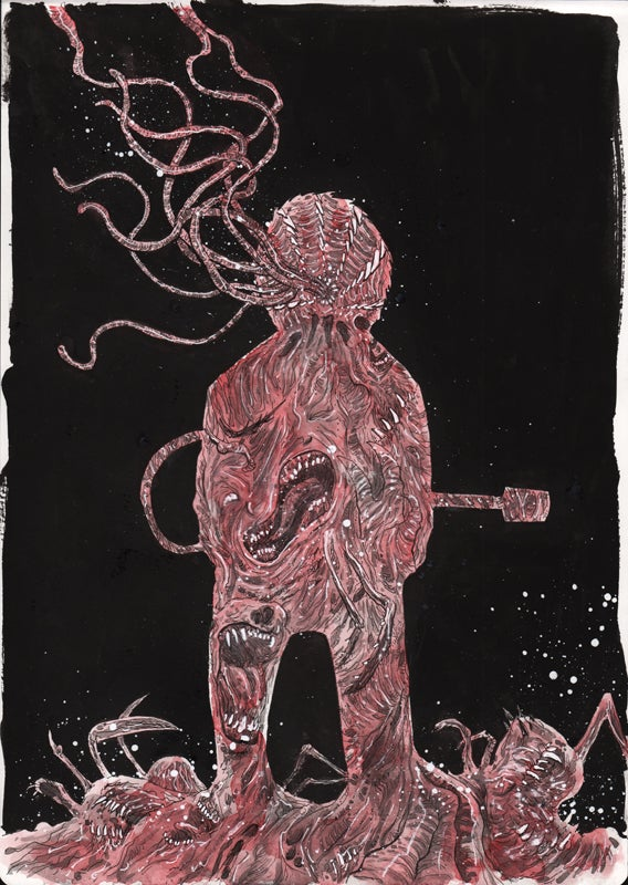 Image of THE THING ARTBOOK ORIGINAL ART