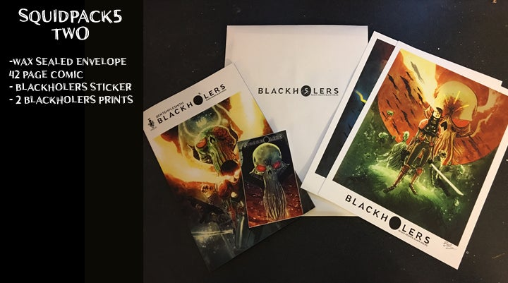 Image of BLACKHOLERS BOOK #5 & SQUIDPACKS