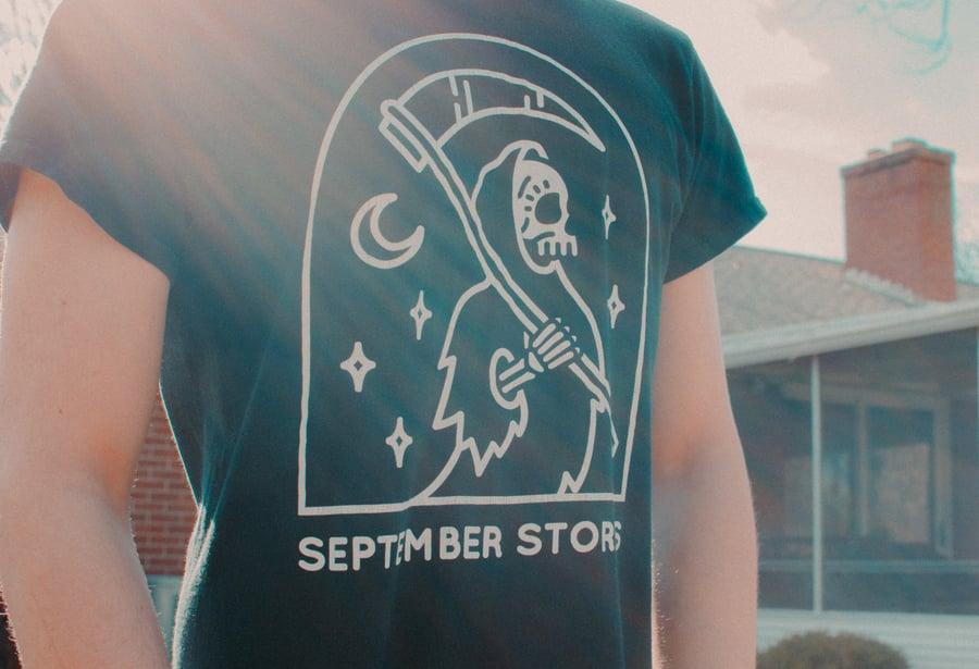 """Image of """"Skeleton"""" Black T-Shirt"""