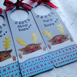 Image of Personalised 'Santa Stop Here' Signs - Pre-Orders