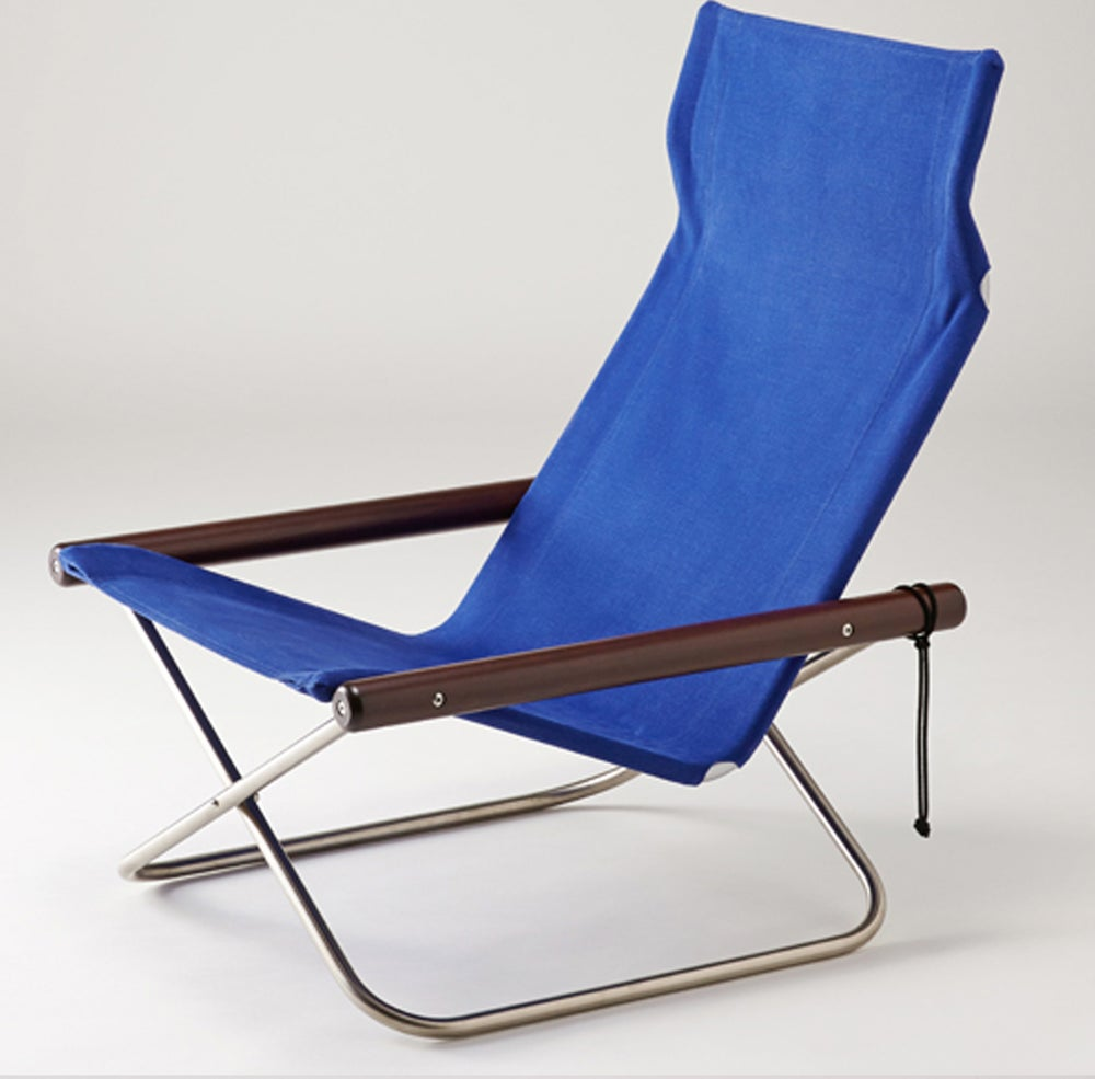 Image of NY Folding Chair X Lounge - Takeshi Nii Nychair X - Brown