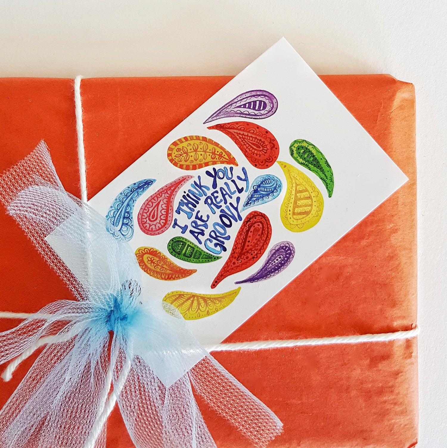 Image of i think you are really groovy (6 pack) GIFT TAGS