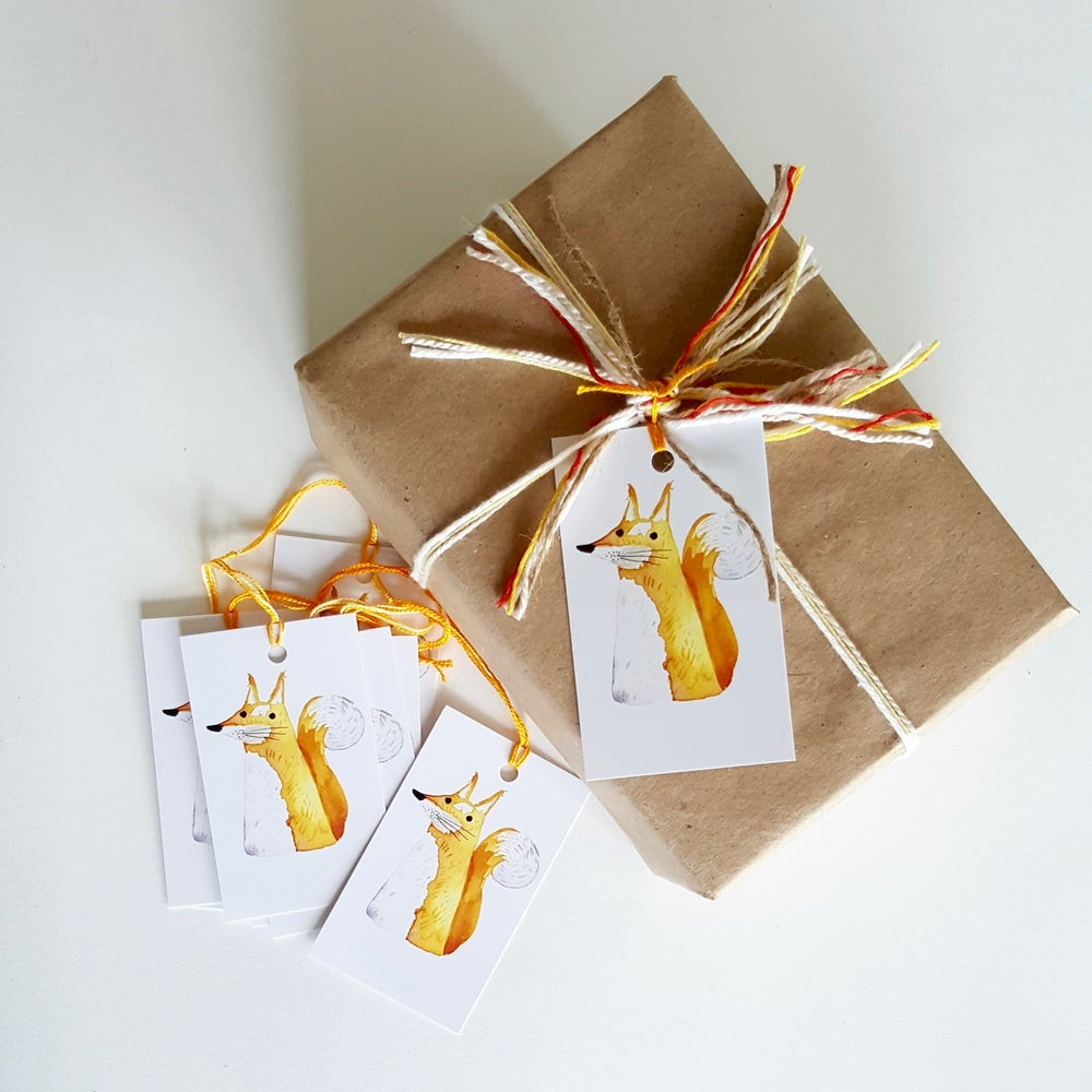 Image of foxy foxy (6 pack) GIFT TAGS