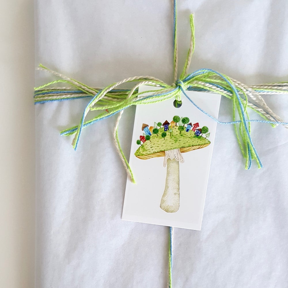 Image of 'shroom village (6 pack) GIFT TAGS