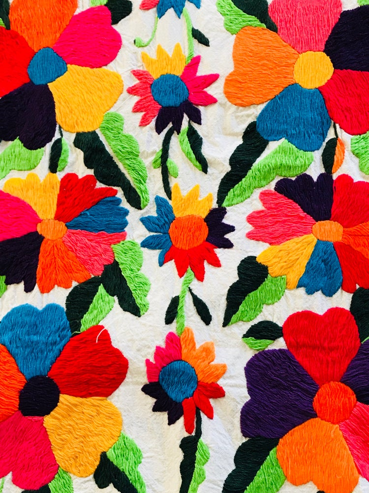 Image of Otomi floral taille moyenne