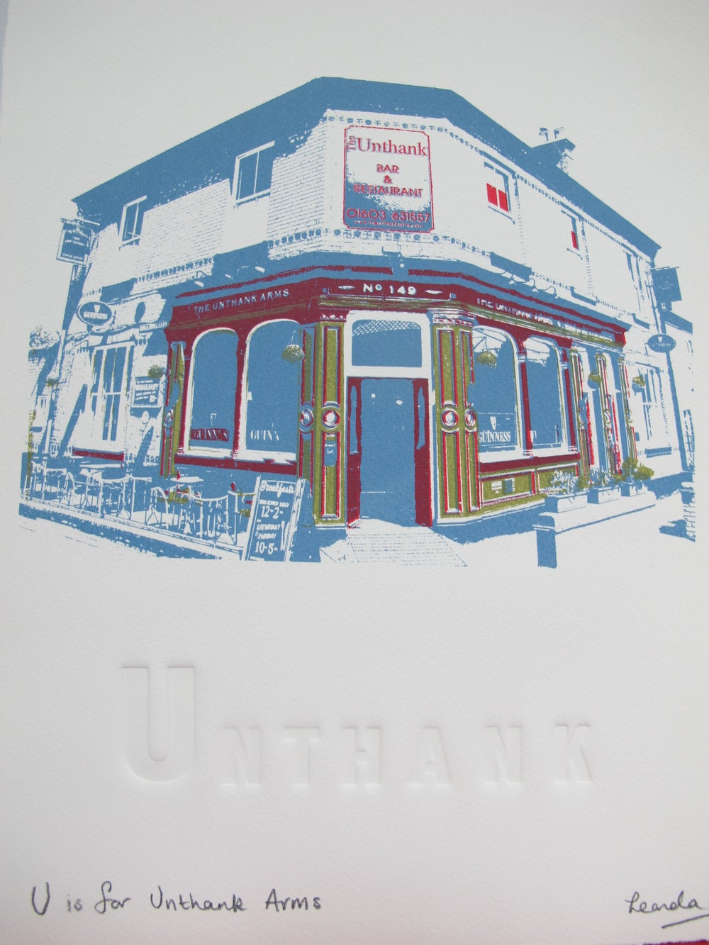 Image of U is for Unthanks Arms
