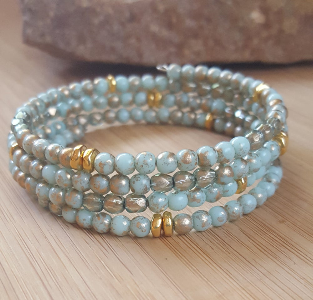 Image of Czech Bead Stacking Bracelet
