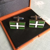Image of A gift for that TRUE Devonian- Luxury Devon Flag Cuff-links-