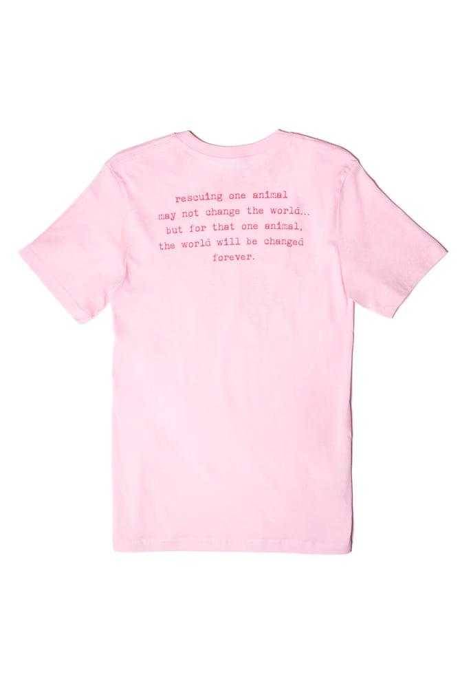 Image of pink classic tiny tim tee-unisex sizing