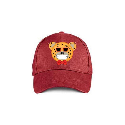 Image of Red Cheetah Bear Cap