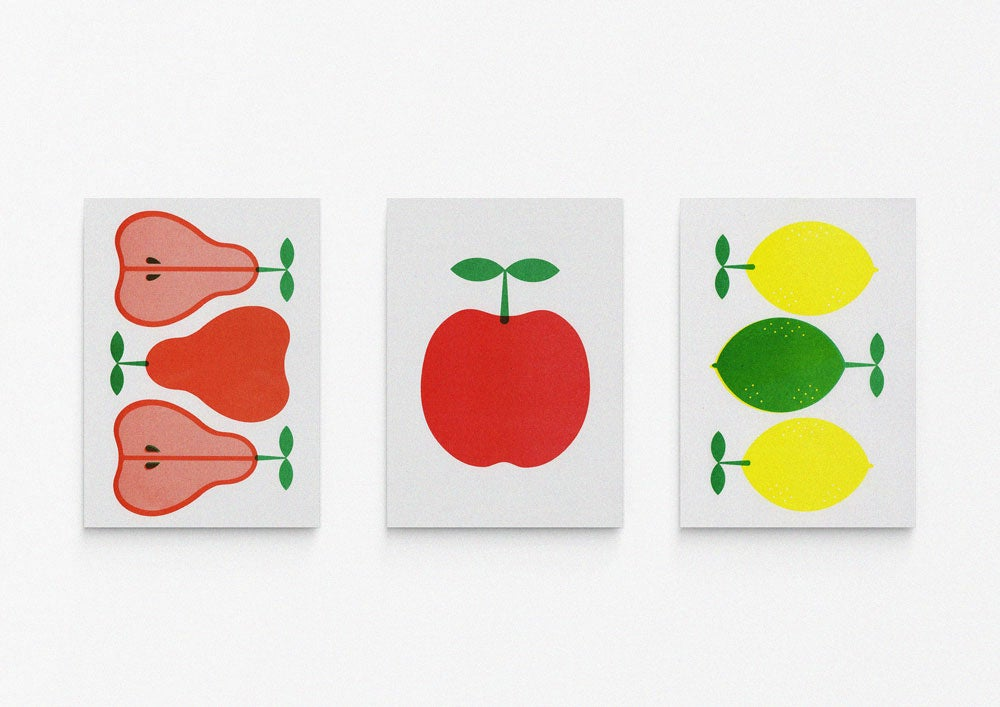 Image of A5 Fruit prints