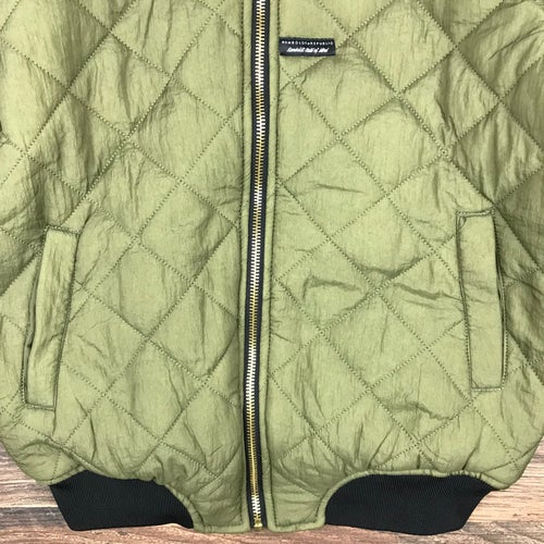 "Image of ""Vixen"" Ladies Quilted Bomber Jacket - OLIVE"