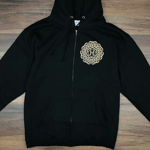 "Image of ""Bold & Brave"" Men's Zip Up Hoodie"