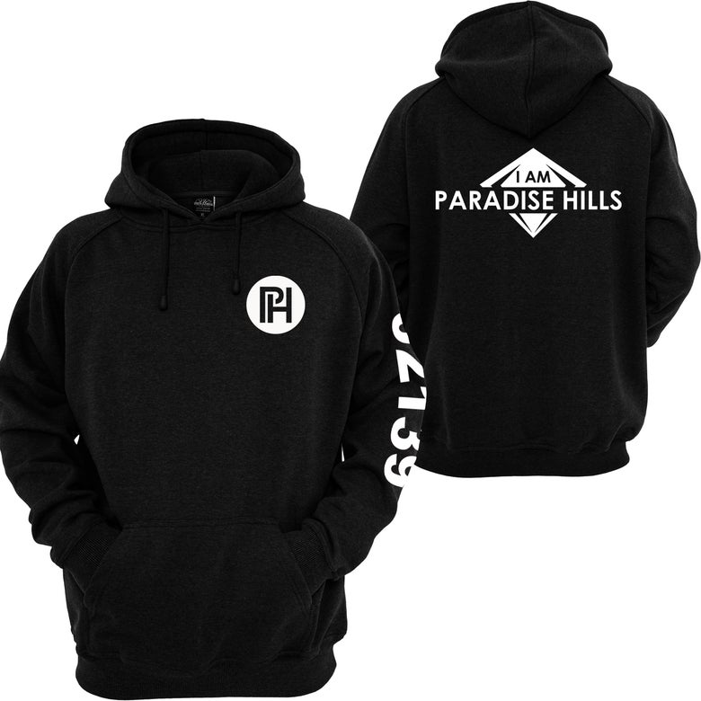 Image of I AM PARADISE HILLS ZIPPERED HOODIE