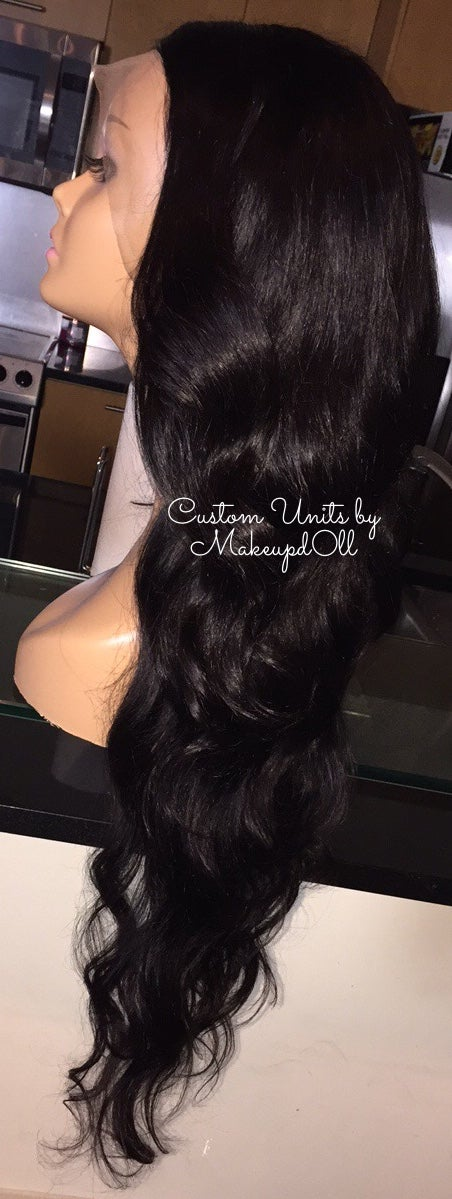 "Image of Indian Natural Waves 28"" Custom Lace Frontal Wig!"