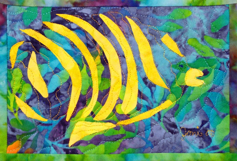 """Image of """"Fractured Fish #1"""", Signed & Matted, Art Print, 8 1/2"""" x 11"""" . (Available Unmatted, Print Only.)"""