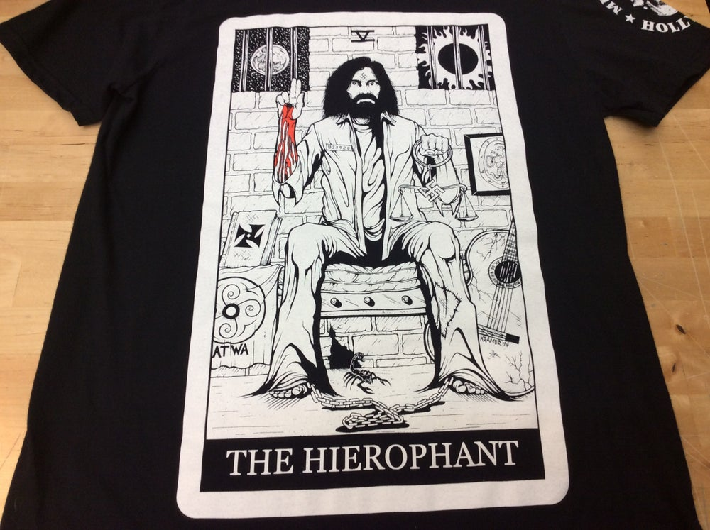 "Image of Manson ""The Heirophant"" Tarot Card Shirt"