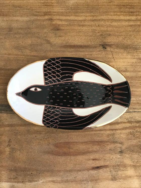 Image of Small oval bird platter