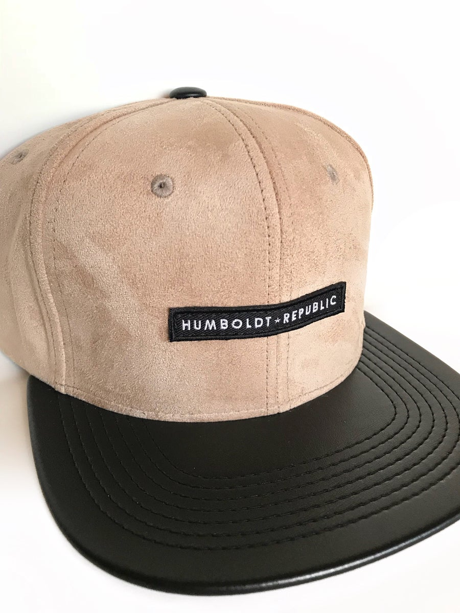 "Image of ""Sand Silk"" Suede Snapback Hat"