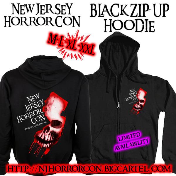 Image of NJ Horror Con Logo Zip-up Sweatshirt
