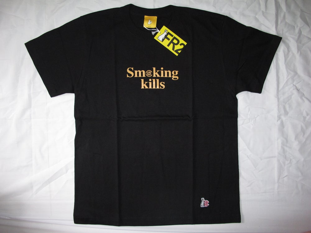 Image of CLOT X FR2 NO SMOKING TEE BLACK
