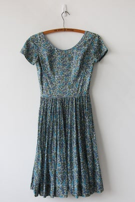Image of SALE Tiny Floral Cotton Day Dress (Orig $72)