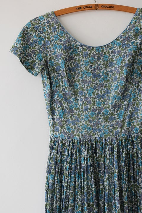 Image of Tiny Floral Cotton Day Dress