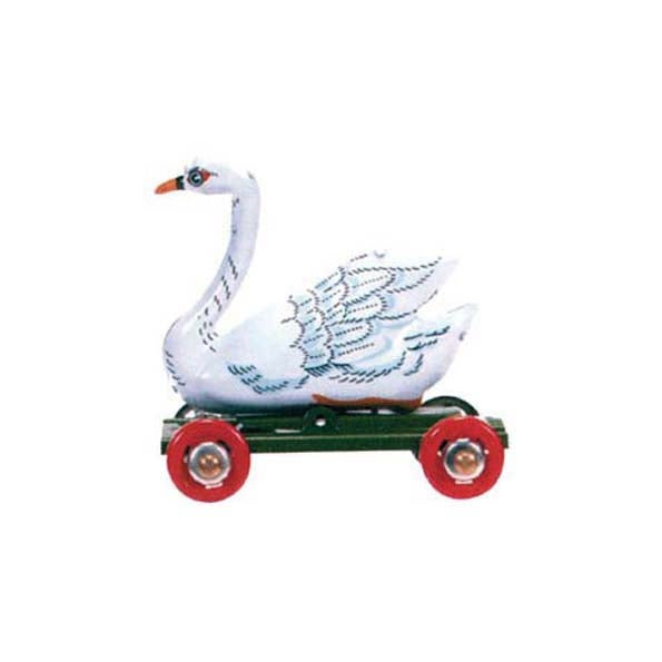 Image of Miniature Tin Toy Ornament - Swan