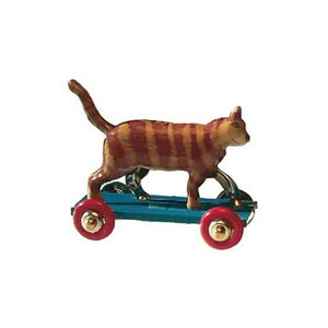Image of Miniature Tin Toy Ornament - Cat