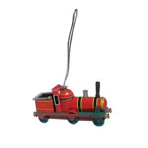Image of Miniature Tin Toy Ornament -  Train