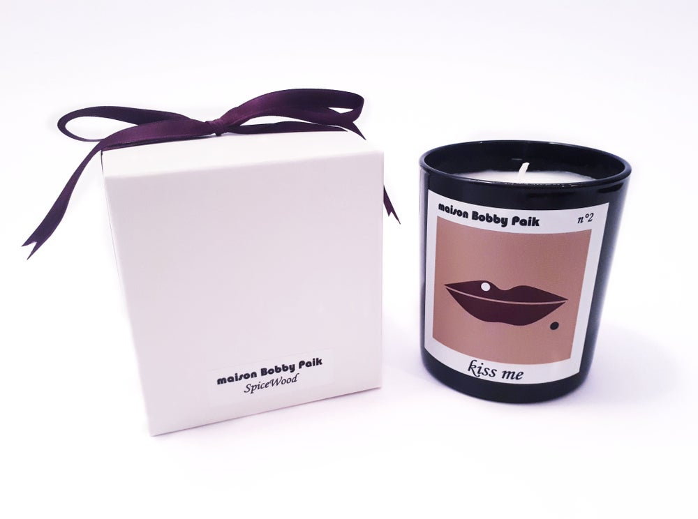 Image of Maison Bobby Paik SpiceWood Scented Candle-Kiss me black