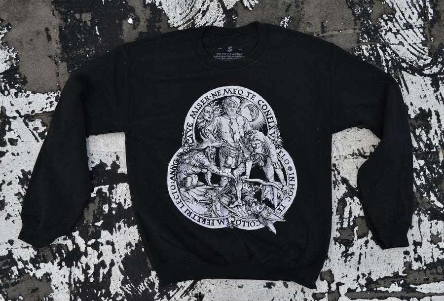 "Image of ""Patricide"" Black Crewneck Sweatshirt"