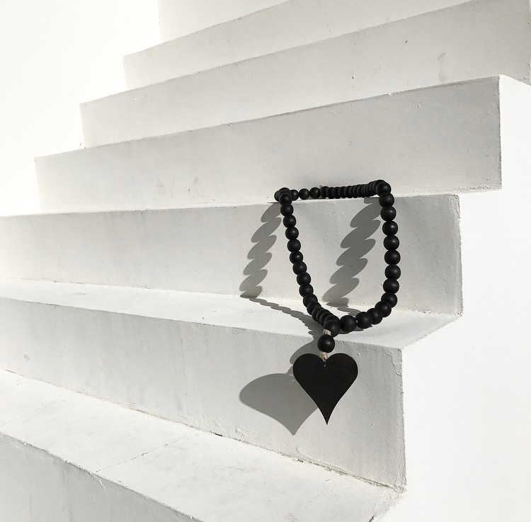 Image of ORIGINAL LOVE BEADS - MODERN BLACK HEART