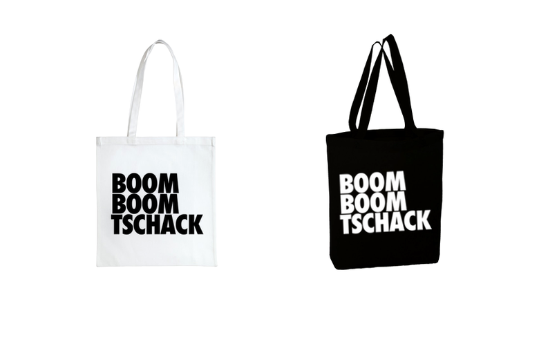 Image of BOOM BOOM TSCHACK Tote Bag Black & White
